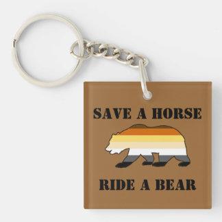 Reserva gay del orgullo del oso un paseo del cabal llavero