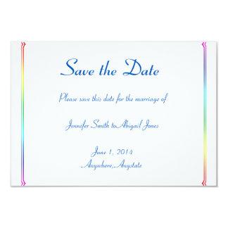 Reserva gay floral del boda del arco iris elegante invitación 8,9 x 12,7 cm