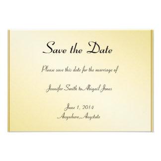 Reserva gay floral del boda del oro elegante la fe invitación personalizada