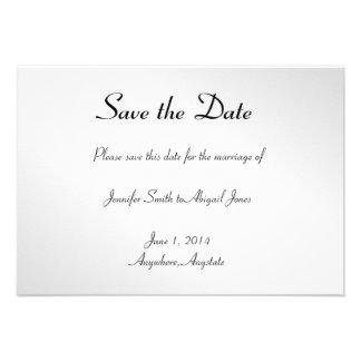 Reserva gay floral negra elegante del boda la fech invitaciones personales