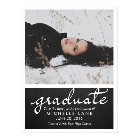 Reserva graduada de la escritura de la pizarra la postal