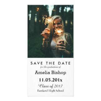 Reserva graduada simple de la foto la fecha tarjeta fotográfica