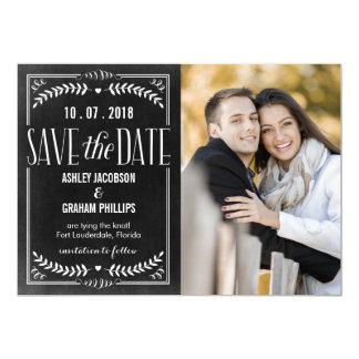 Reserva hermosa del amor la tarjeta de fecha invitación 12,7 x 17,8 cm