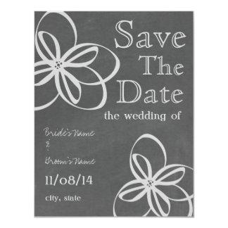 Reserva inspirada tiza floral moderna del boda la invitación 10,8 x 13,9 cm