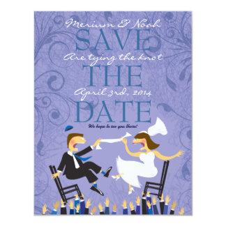 Reserva judía del boda de la danza de la silla de invitación 10,8 x 13,9 cm