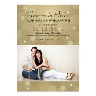 Reserva la Fecha Casamiento Anuncio Targeta Foto Invites