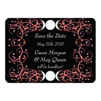 Reserva lesbiana del boda de Wiccan la tarjeta de Invitación 11,4 X 15,8 Cm