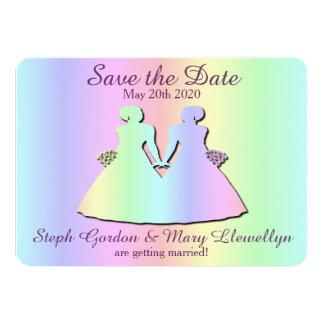 Reserva lesbiana del boda del orgullo la tarjeta invitación 11,4 x 15,8 cm