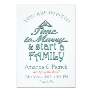 Reserva linda la tarjeta de fecha invitación 8,9 x 12,7 cm