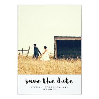Reserva minimalista simple de la foto de la invitación 12,7 x 17,8 cm