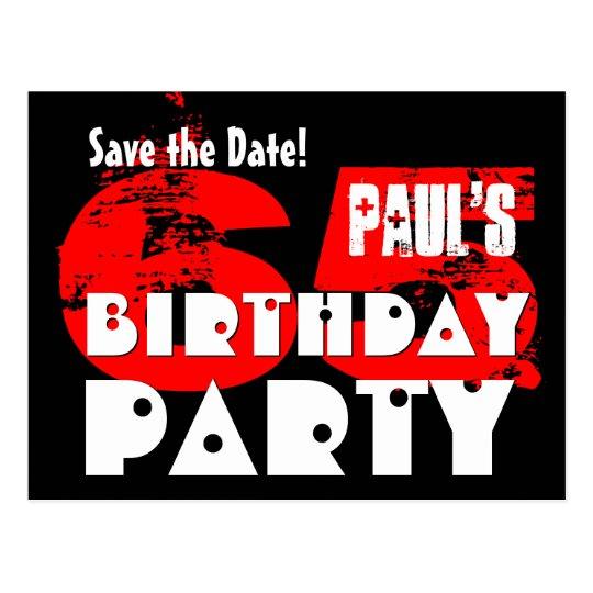 Reserva moderna la 65.a fiesta de cumpleaños de la postal