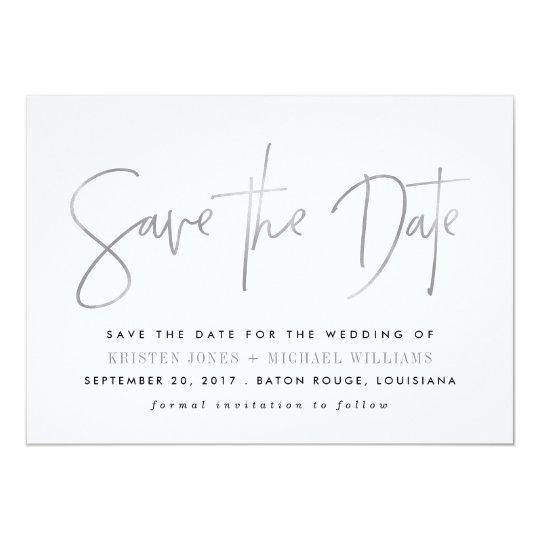 Reserva moderna las invitaciones de la fecha invitación 12,7 x 17,8 cm