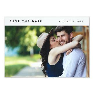Reserva moderna minimalista de la foto la fecha invitación 12,7 x 17,8 cm