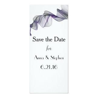Reserva negra y púrpura del gótico del velo las invitación 10,1 x 23,5 cm