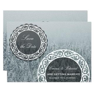 Reserva nevosa del invierno la tarjeta de la invitación 12,7 x 17,8 cm
