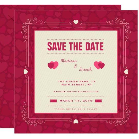 Reserva ornamental rosada del marco la invitación