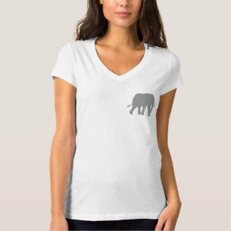 Reserva para mujer del círculo los elefantes camiseta