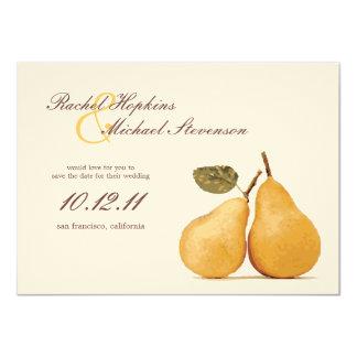 Reserva perfecta del boda de los pares del vintage invitación 11,4 x 15,8 cm