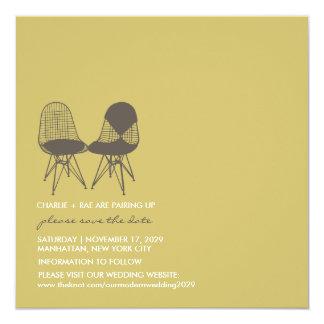 Reserva perfecta retra de Eames de los pares de la Invitación 13,3 Cm X 13,3cm