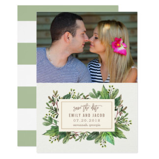 Reserva preciosa del follaje las tarjetas de fecha invitación 12,7 x 17,8 cm