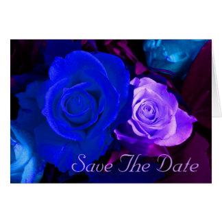 Reserva púrpura azul del rosa la fecha tarjeta