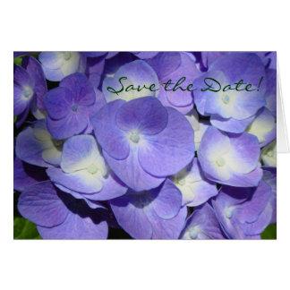 Reserva púrpura del Hydrangea la tarjeta de fecha