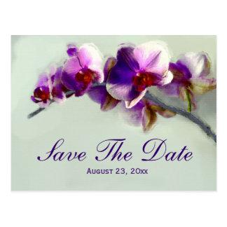 Reserva radiante de la pintura de la orquídea la postal
