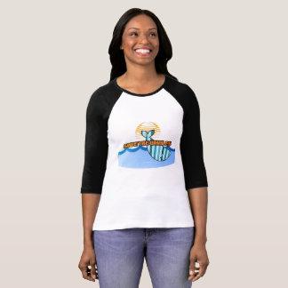 Reserva retra las ballenas 3/4 camiseta del raglán