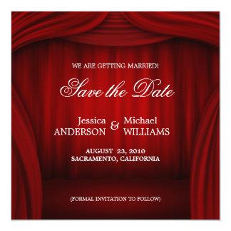 Reserva roja de la cortina la invitación de la