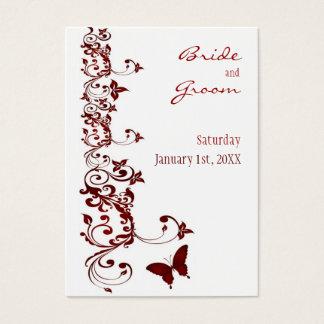 Reserva roja de la mariposa la fecha para los tarjeta de negocios