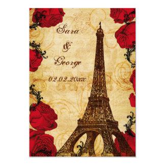 reserva roja de París de la torre Eiffel del Invitación 12,7 X 17,8 Cm