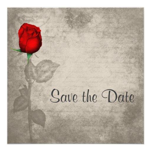 Reserva roja del capullo de rosa del color de punt invitacion personal