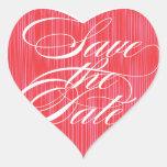 Reserva roja del corazón el | el sello del sobre calcomania corazon