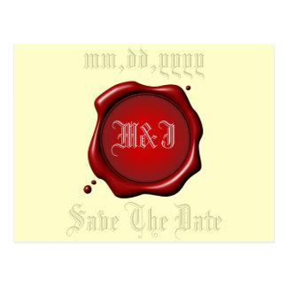 Reserva roja del sello la plantilla de la postal
