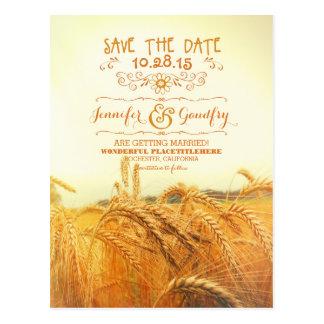 reserva romántica del campo de trigo las postales
