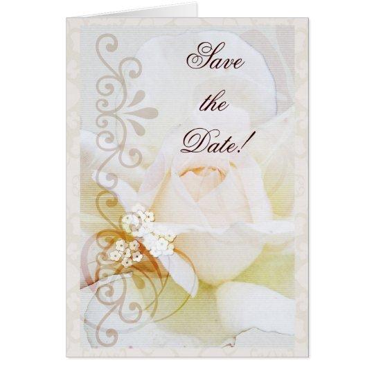 Reserva romántica la tarjeta de fecha con el texto