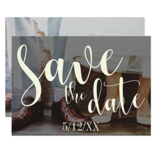 Reserva romántica suave de la tipografía 30 de la invitación 12,7 x 17,8 cm