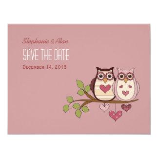 Reserva rosada de Sweethoot la tarjeta de fecha #2 Invitación 10,8 X 13,9 Cm
