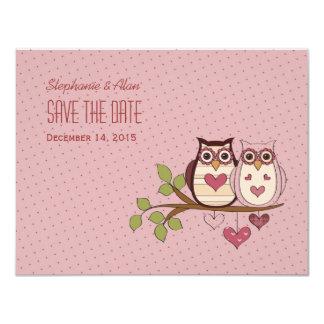 Reserva rosada de Sweethoot la tarjeta de fecha Invitación 10,8 X 13,9 Cm