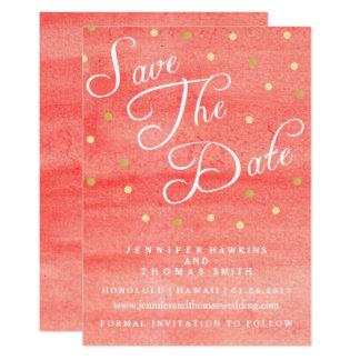 Reserva rosada del boda de la textura de la invitación 12,7 x 17,8 cm