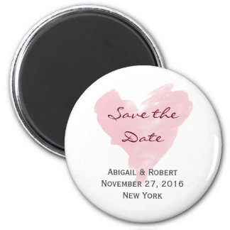 Reserva rosada del corazón el imán de la fecha