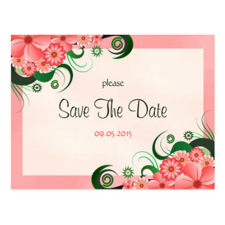 Reserva rosada floral del personalizado del postal