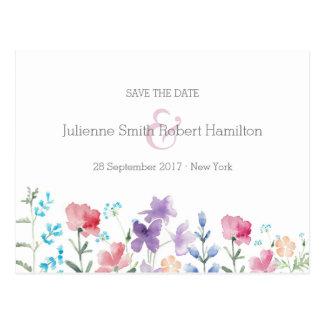Reserva rústica bonita de los Wildflowers el   la Postal