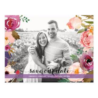 Reserva rústica de la foto de las flores de la postal