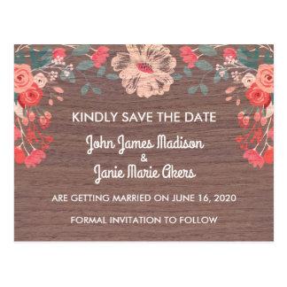 Reserva rústica del flor la postal de la fecha