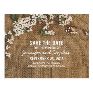 Reserva rústica del país de la arpillera la fecha postal