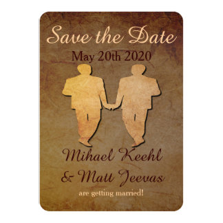 Reserva rústica oscura el boda gay de la tarjeta invitación 11,4 x 15,8 cm
