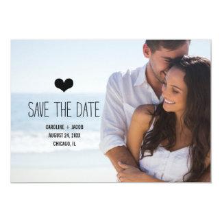 Reserva simple de la foto la fecha invitación 12,7 x 17,8 cm