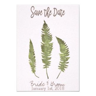 Reserva simple de la naturaleza la fecha invitación 11,4 x 15,8 cm