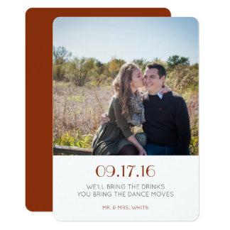 Reserva simple la fecha invitación 12,7 x 17,8 cm